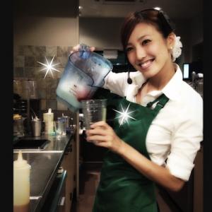 小澤陽子アナがスタバでアルバイト中