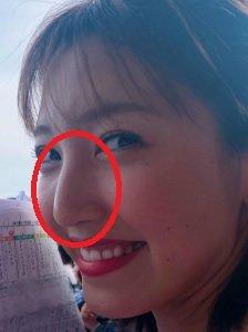 小澤陽子の鼻