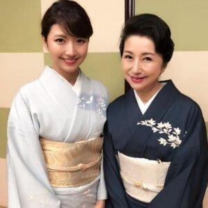 三田アナと母親
