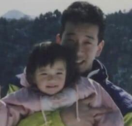 佐藤栞里の父親との写真